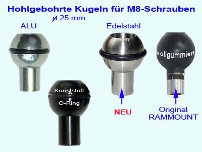 Verlängerung 30 mm für Ram Mount Rammounts M8 Gewinde